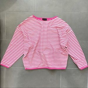 Vintage 90s Limited Pink Textured Pullover Crew